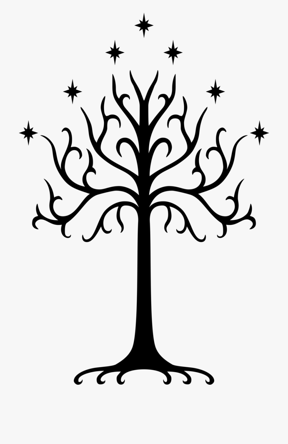 Lotr clipart picture free stock Lotr - Tree Of Gondor Logo #120945 - Free Cliparts on ... picture free stock