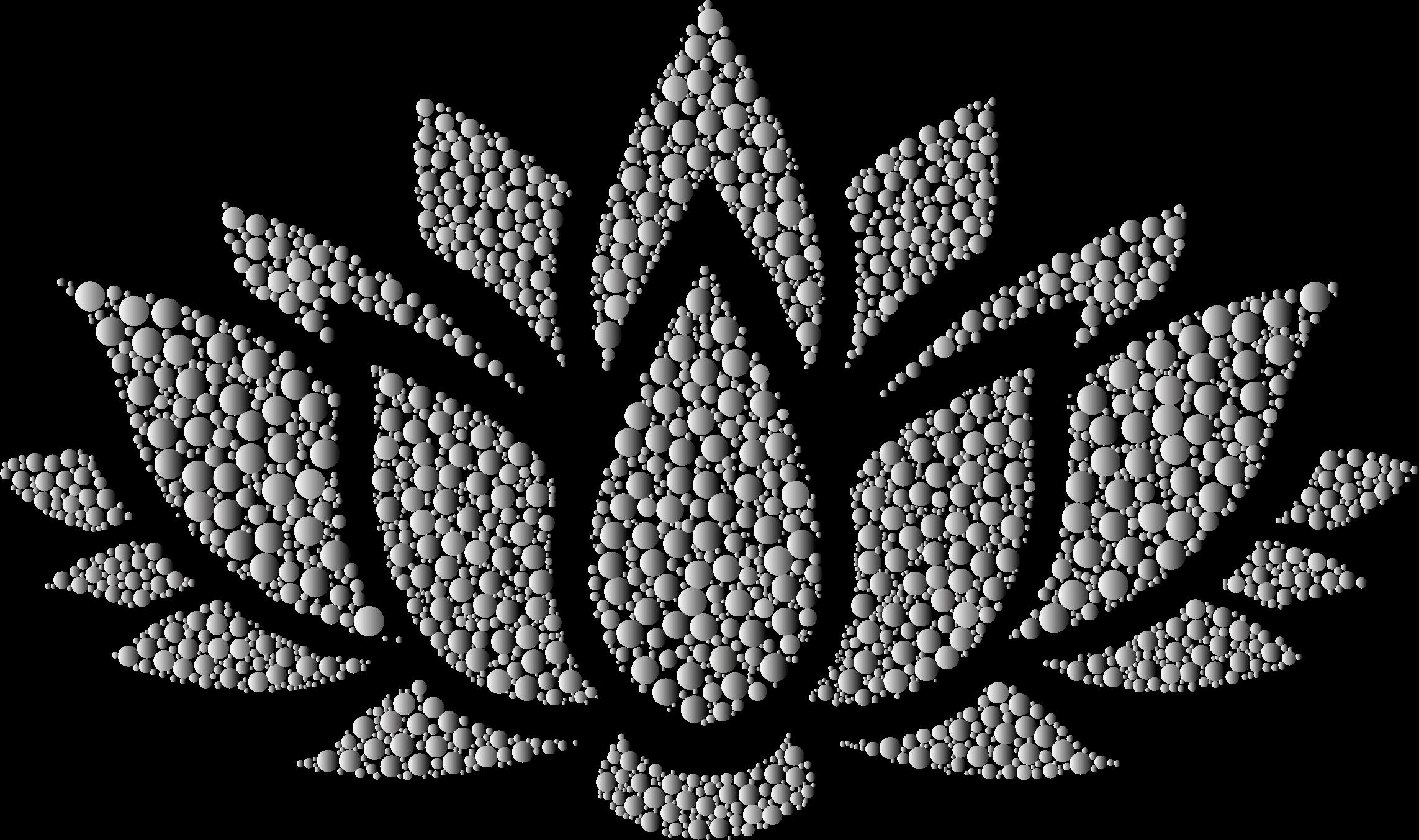 White lotus flower clipart clip black and white stock Clipart - Prismatic Lotus Flower Silhouette 6 Circles 10 No Background clip black and white stock