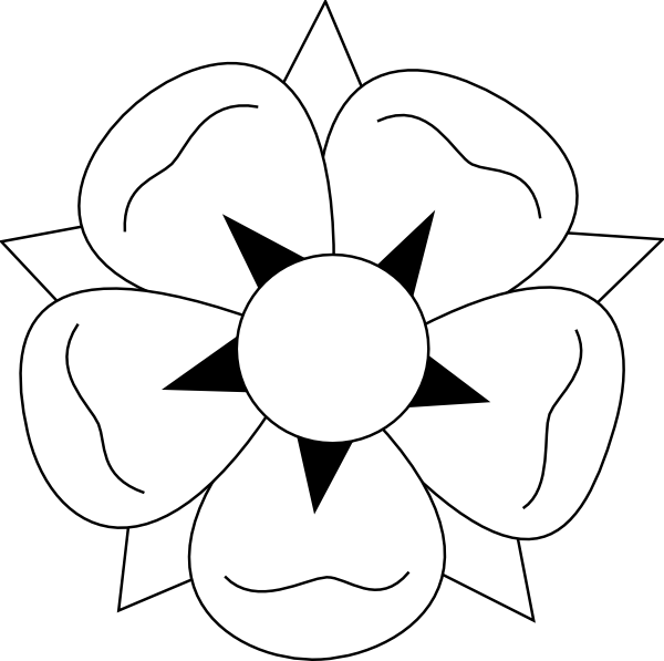 Lotus flower clipart black white vector free download Oversized Lotus Flower Clip Art at Clker.com - vector clip art ... vector free download