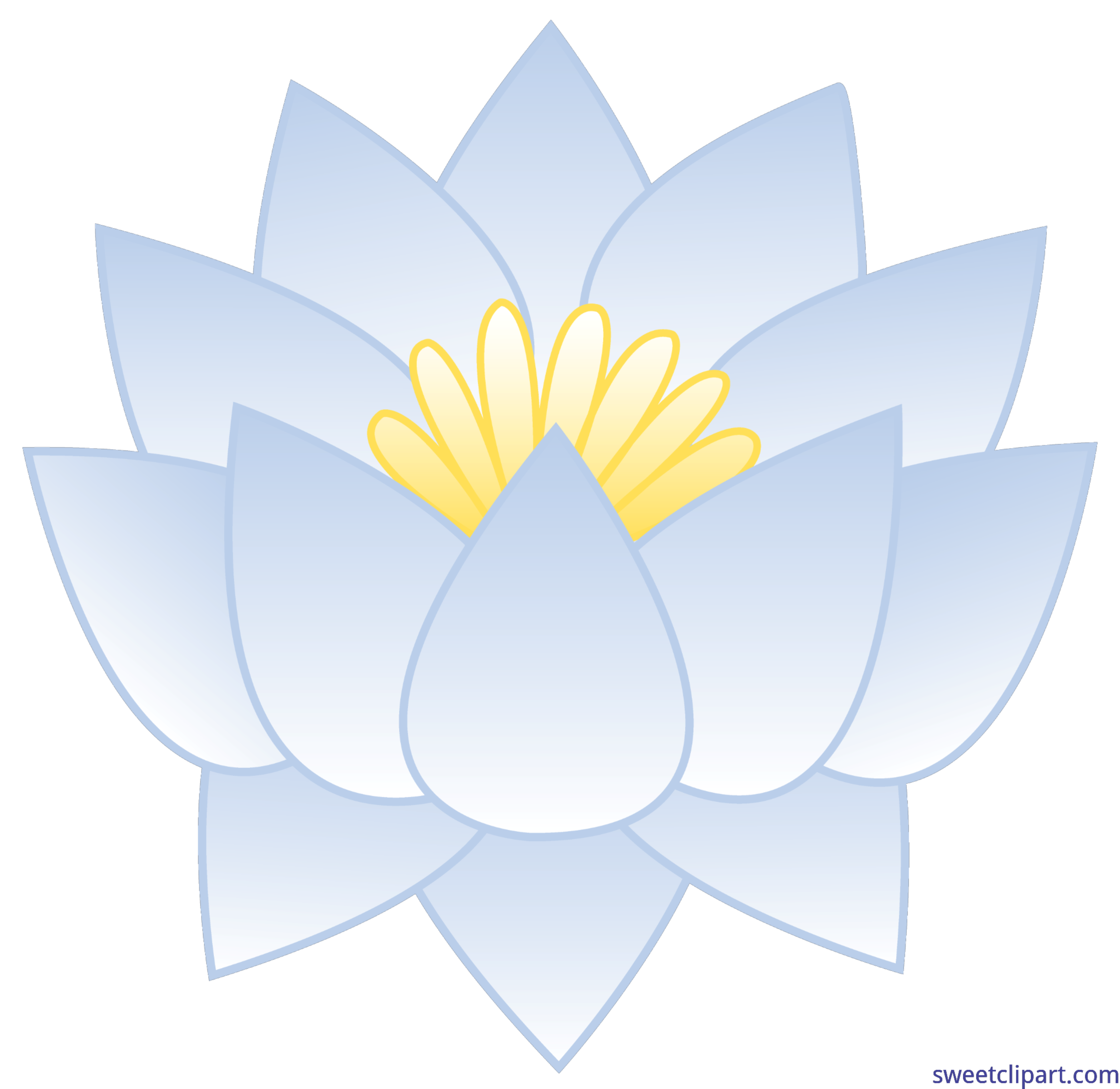 Lotus flower clipart png black and white library White Lotus Flower Clip Art - Sweet Clip Art png black and white library