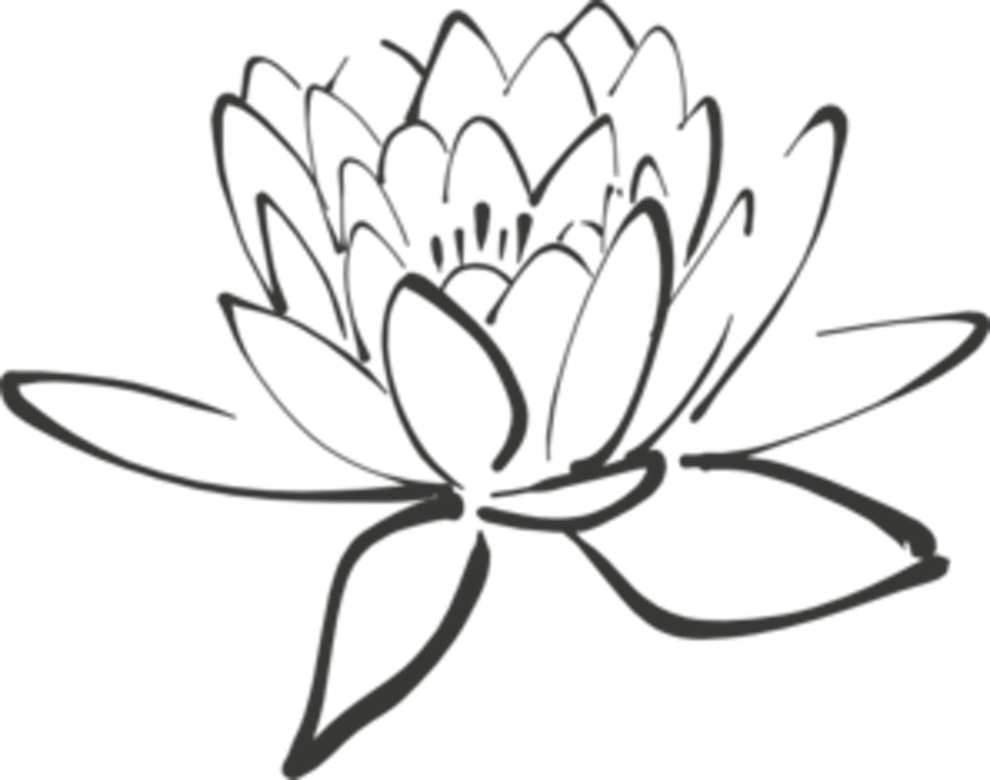 Lotus flower clipart black white graphic freeuse White Lotus Flower Drawing at GetDrawings.com | Free for personal ... graphic freeuse