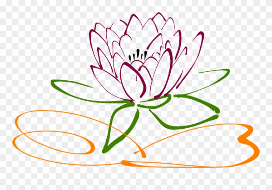 Lotus flower outline clipart free graphic free Free Png Download Lotus Flower Vector Png Images Background ... graphic free