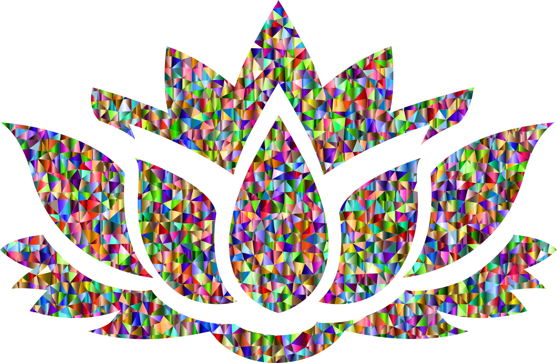 Lotus flower clipart no background svg royalty free Low Poly Chromatic Lotus Flower Silhouette Icons PNG - Free PNG and ... svg royalty free