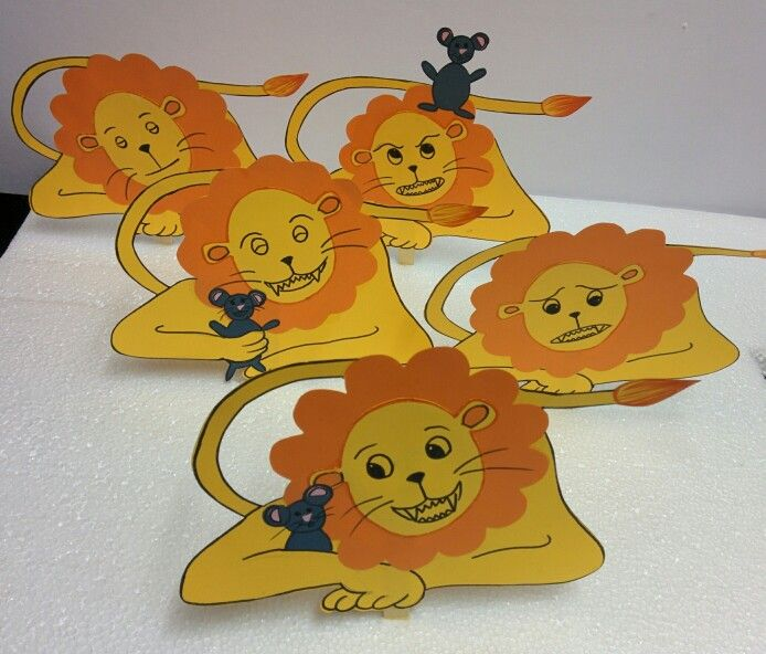Loud and quiet lds primary lion mouse clipart picture royalty free library Stick puppets for the story, The Lion and the Mouse ... picture royalty free library