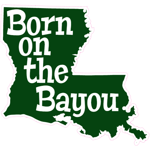 Louisiana bayou clipart picture royalty free download Louisiana Born On The Bayou State Sticker picture royalty free download