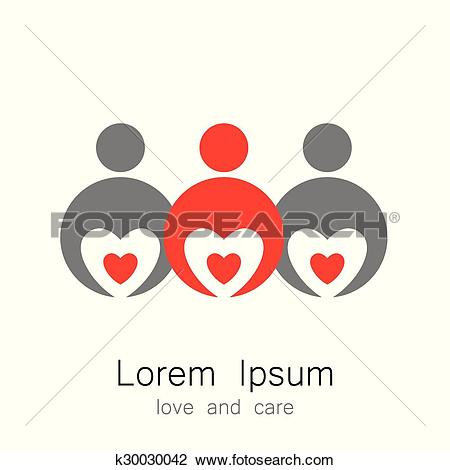 Love and care clipart image library Clipart of logo template love care k30030042 - Search Clip Art ... image library