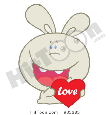 Love and caring clipart svg stock Rabbit Clipart #35285: Caring Beige Rabbit Laughing and Holding a ... svg stock
