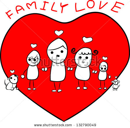 Love and family clipart jpg royalty free stock Family Love Stock Vectors, Images & Vector Art | Shutterstock jpg royalty free stock