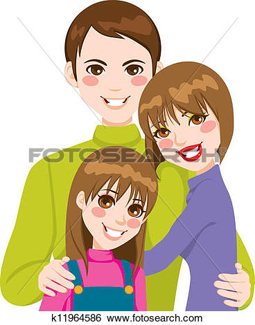 Love and family clipart picture freeuse download Clip Art of Happy Family Love k11964586 - Search Clipart ... picture freeuse download