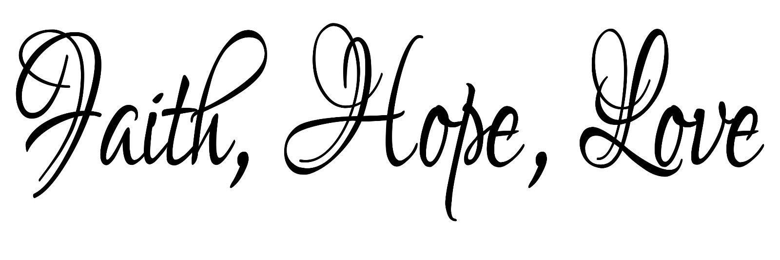 Love and hope clipart vector free stock Faith love hope decal clipart - ClipartFest vector free stock