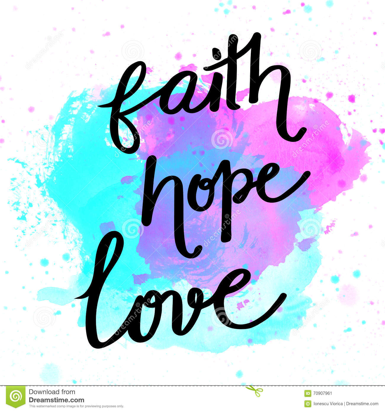 Love and hope clipart vector transparent download Faith, Hope, Love Hand Lettering Stock Illustration - Image: 70907961 vector transparent download