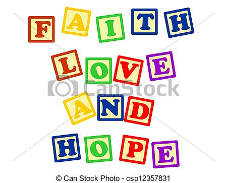 Love and hope clipart vector black and white download Vectors of Faith love and hope - Biblical, spiritual or ... vector black and white download