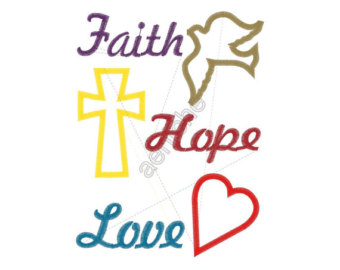 Love and hope clipart clip art black and white library Gallery For > Faith Hope Love Clipart clip art black and white library