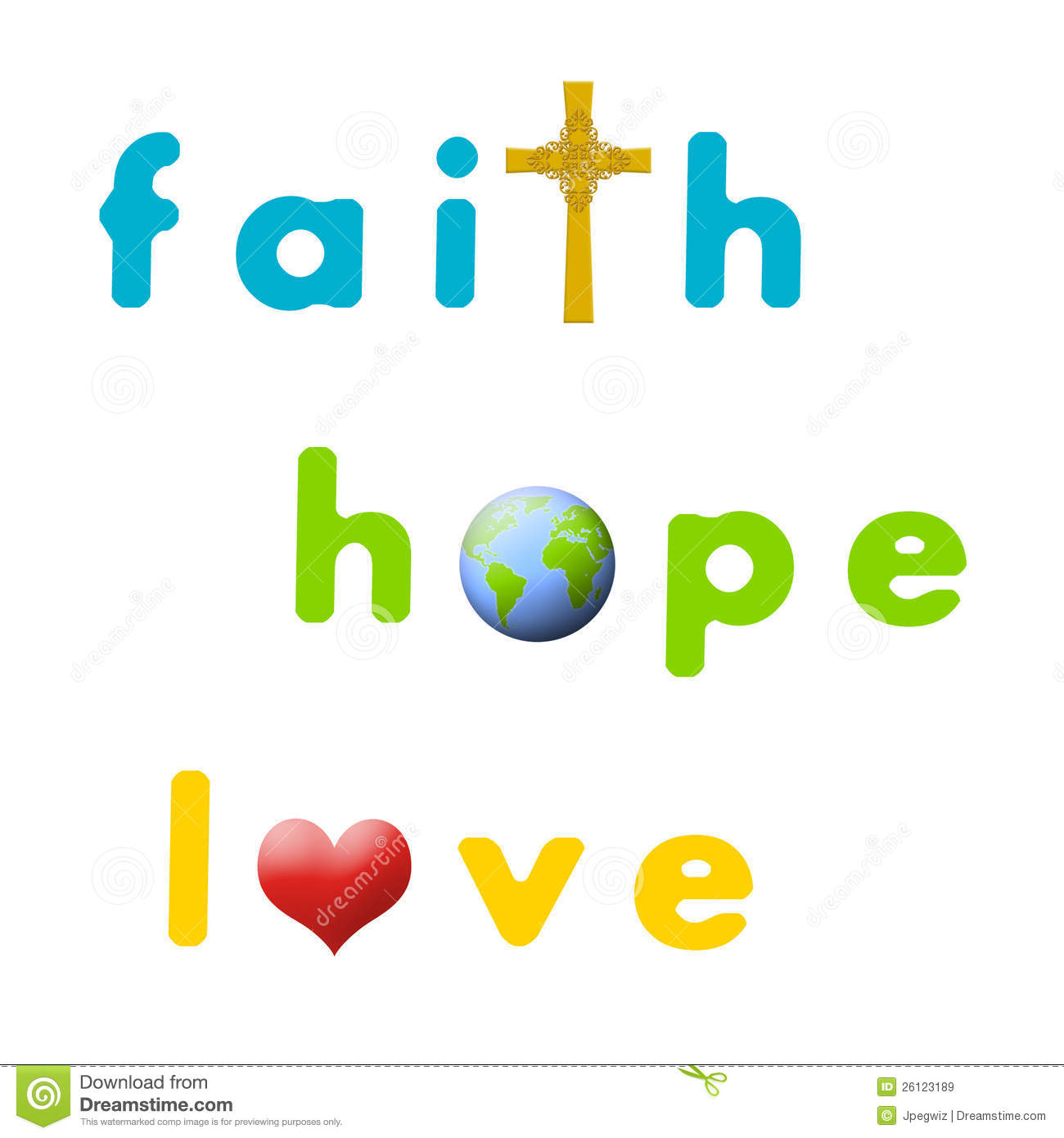 Love and hope clipart png royalty free library Faith, Hope, Love Royalty Free Stock Images - Image: 26123189 png royalty free library
