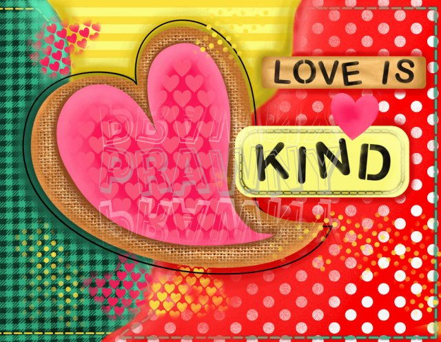 Love and kind clipart banner freeuse Love is Kind Mixed Media Collage ClipArt – Prawny Clipart Cartoons ... banner freeuse