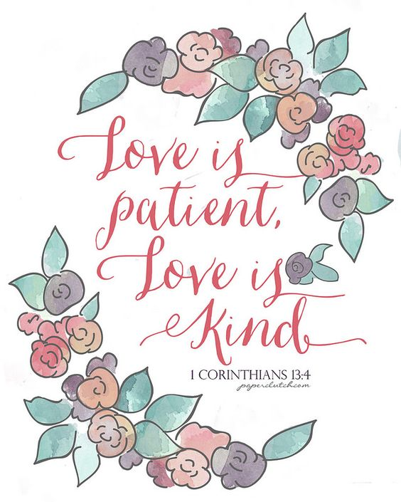Love and kind clipart clipart transparent Love is patient, Love is Kind - Free Printable via paperclutch ... clipart transparent