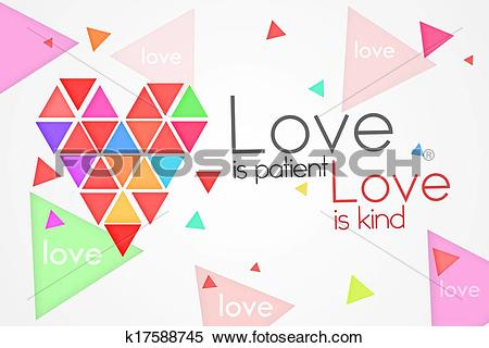 Love and kind clipart black and white stock Stock Illustration of Love is Patient Love is Kind k17588745 ... black and white stock