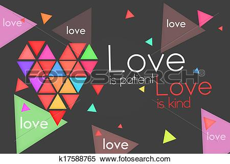 Love and kind clipart free stock Stock Illustration of Love is Patient Love is Kind k17588765 ... free stock