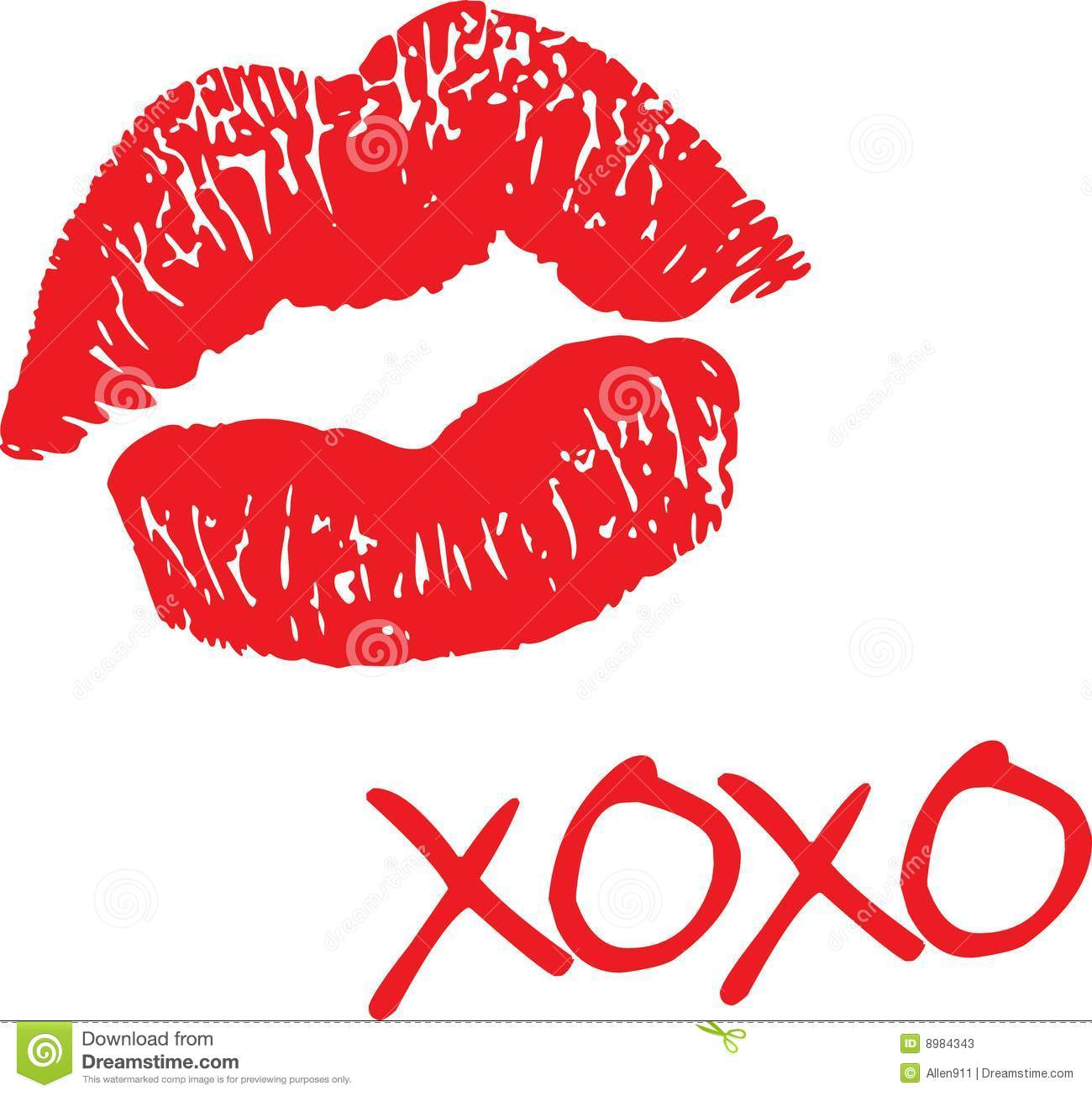 Love and kisses clipart