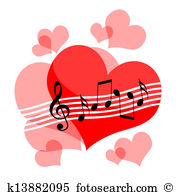 Love and music clipart clip black and white stock Love music Stock Illustrations. 2,413 love music clip art images ... clip black and white stock