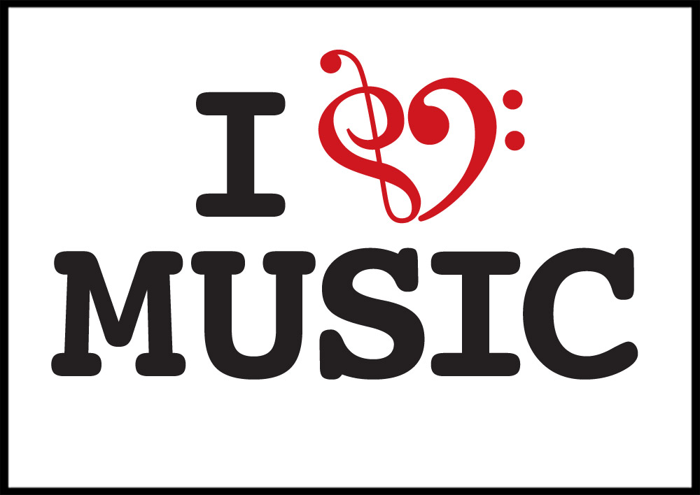 Love and music clipart image black and white download Clipart i love music - ClipartFox image black and white download