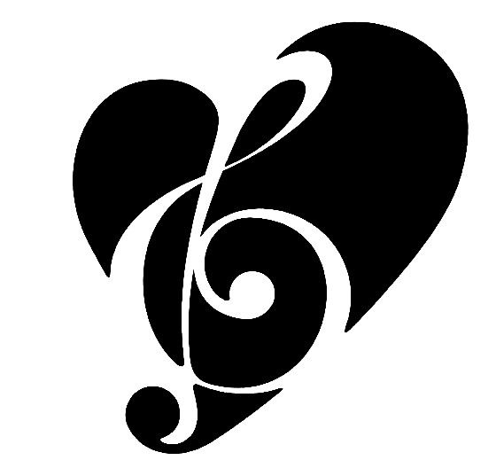 Love and music clipart image black and white stock Love music clipart - ClipartFest image black and white stock