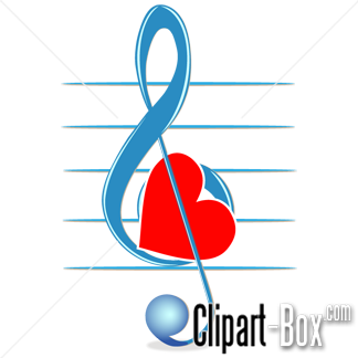 Love and music clipart png library CLIPART LOVE MUSIC KEY | Royalty free vector design png library
