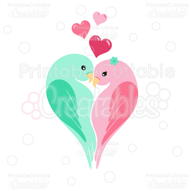 Love birds clipart banner royalty free download Love Birds Clipart and SVG Cut Files banner royalty free download