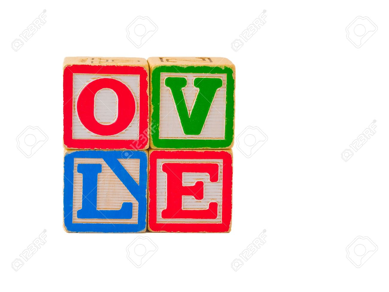 Love block word clipart vector stock The Word LOVE Spelled Out Using Some Old Alphabet Blocks. Stock ... vector stock