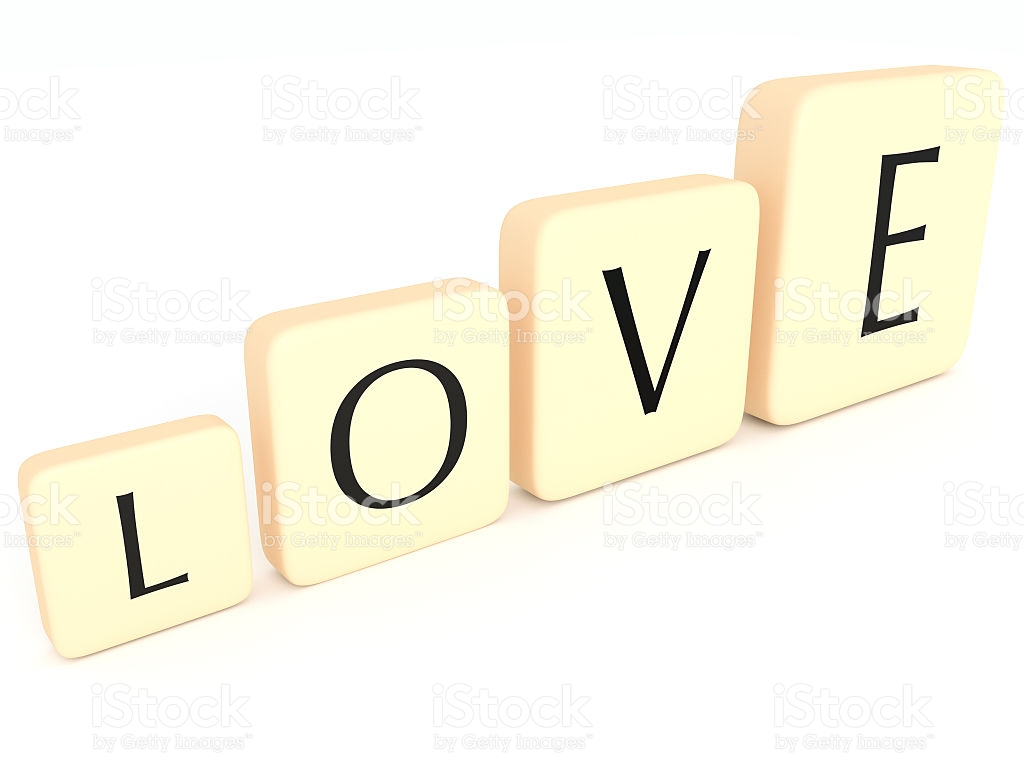 Love block word clipart png library library Growing Love Letter Tiles Forming The Word Love 3d Illustration ... png library library