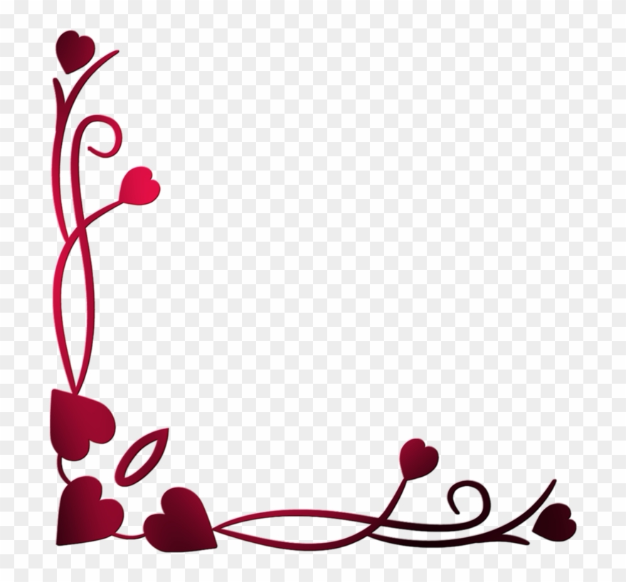 Love border clipart royalty free stock Love Blogger Valentine\'s Day - Love Border Design Png ... royalty free stock