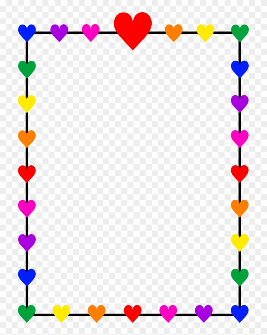 Love border clipart clip library stock Holly Clipart Border Rainbow - Love Borders And Frames - Png ... clip library stock