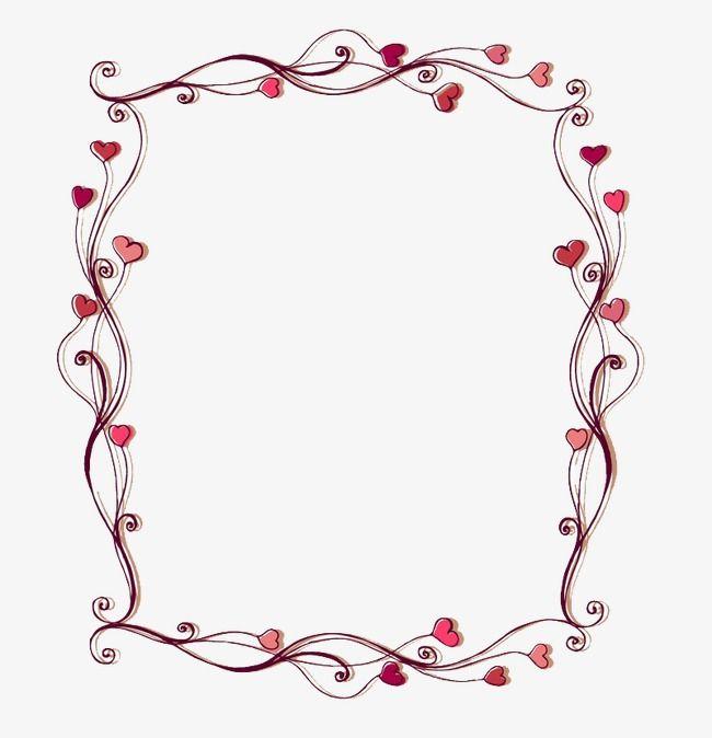 Love border clipart vector library library Pink Border | Flower backgrounds | Heart frame, Border ... vector library library