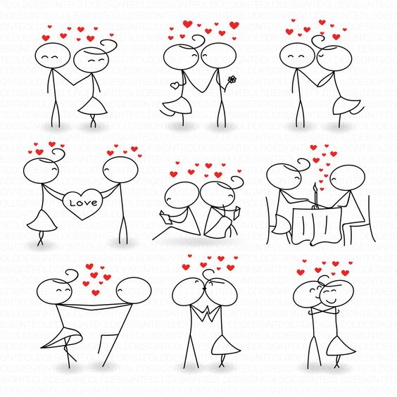 Love clipart clipart clip black and white library Stick figure people love wedding couple meeting cute family ... clip black and white library