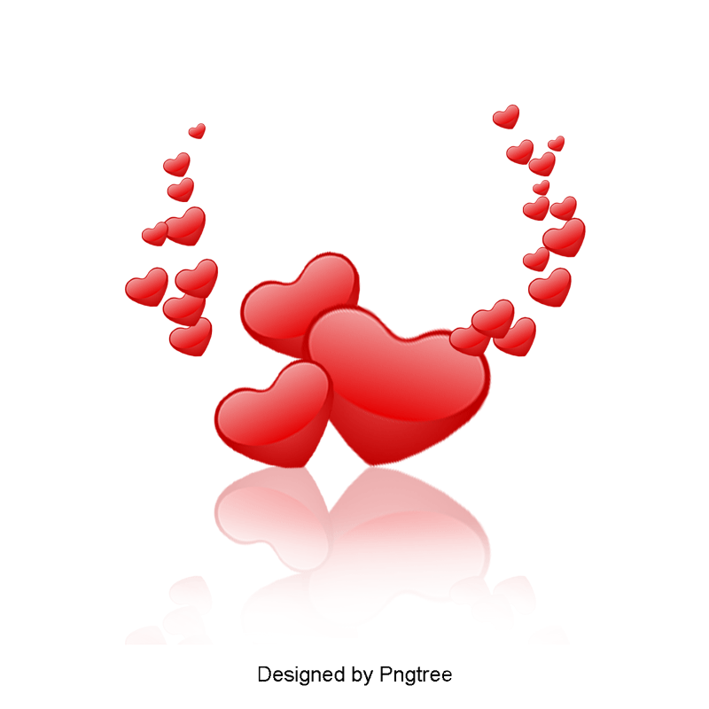Love clipart vector picture transparent download Red Hearts, Festive, Love PNG and Vector with Transparent ... picture transparent download