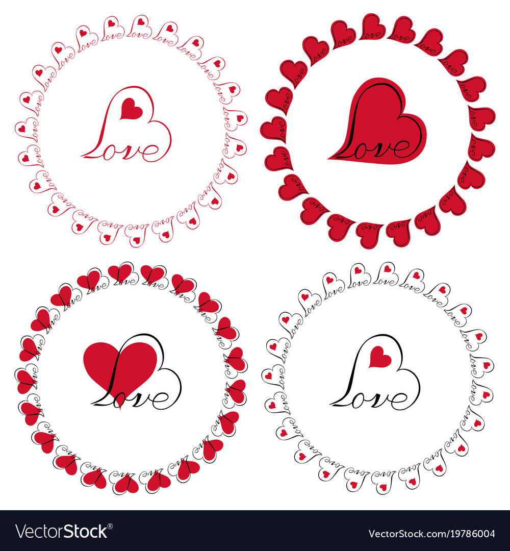 Love clipart vector graphic library stock Love heart circle frames clipart graphic library stock