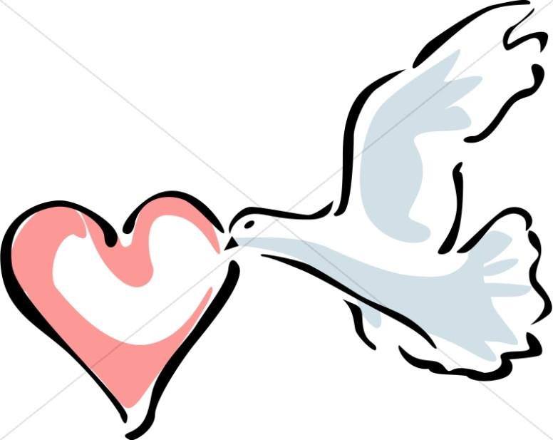 Love dove clipart svg freeuse download Dove Carrying a Heart | Dove Clipart svg freeuse download