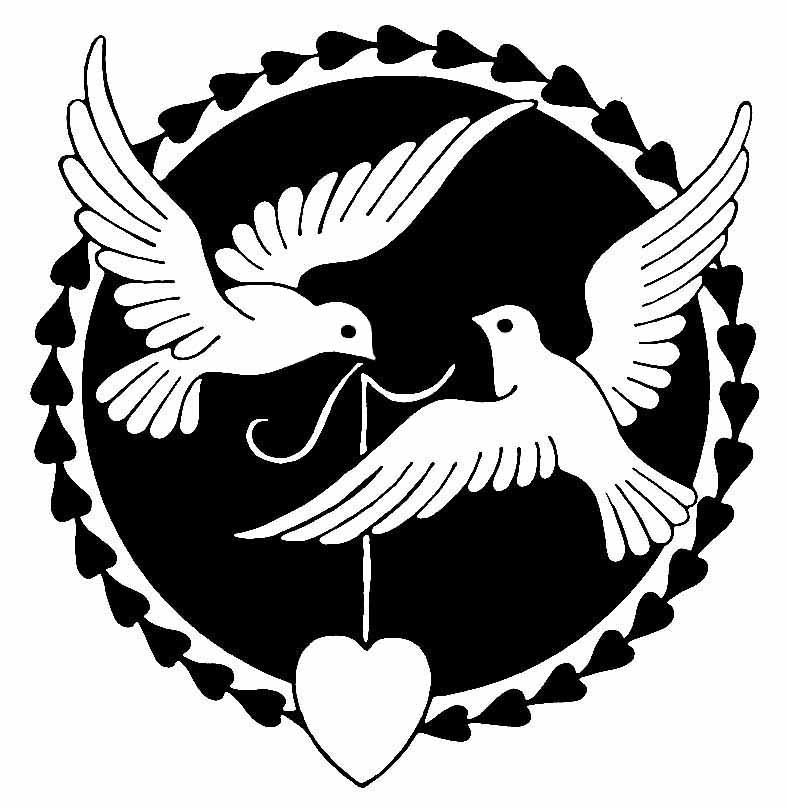 Love dove clipart clipart black and white library Free Dove Valentine Cliparts, Download Free Clip Art, Free ... clipart black and white library