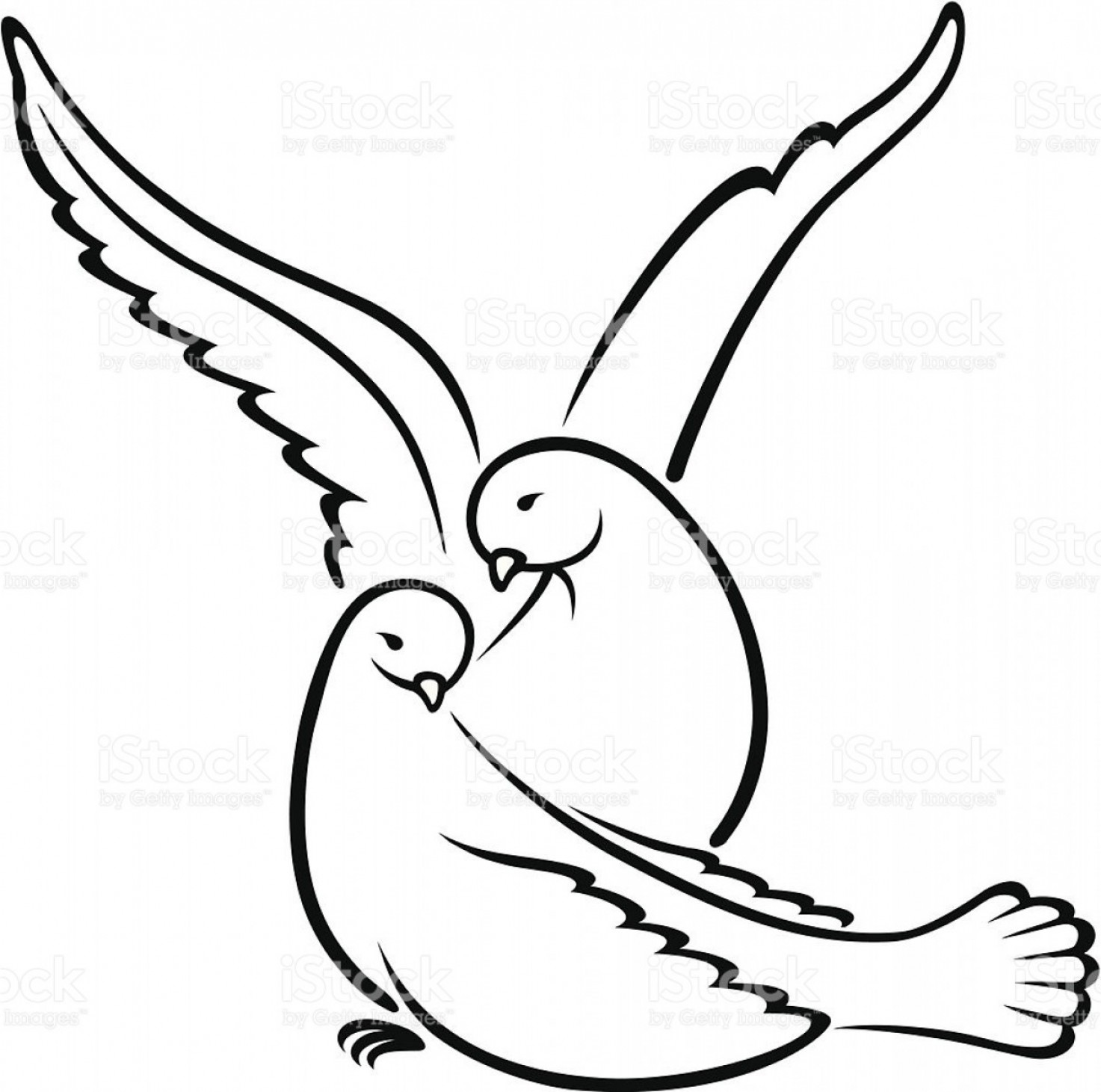 Love doves drawing clipart black and white vector White Dove Drawing at PaintingValley.com | Explore ... vector