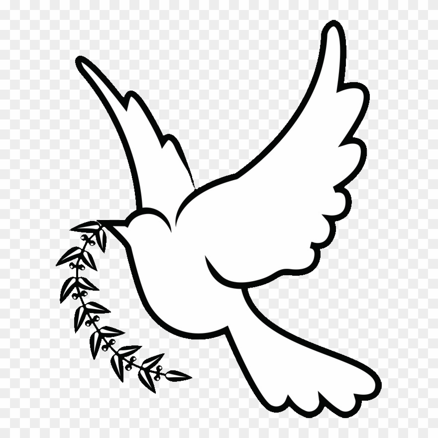 Love doves drawing clipart black and white clipart transparent stock Doves Drawing Png - White Dove Drawing Png Clipart (#478658 ... clipart transparent stock