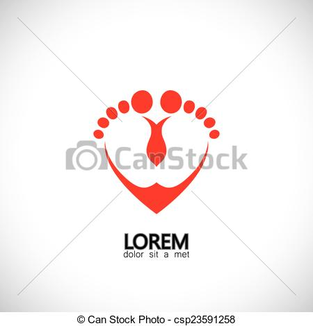 Love feet clipart jpg image free library Clipart Vector of child or baby feet in love symbol - concept ... image free library