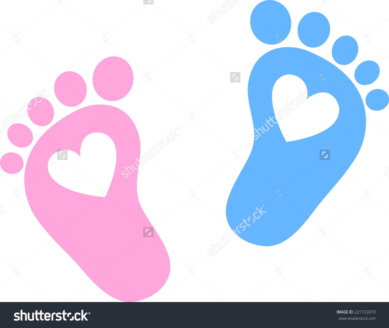 Love feet clipart jpg clipart royalty free Baby Feet Footprint Hearts Stock Vector 221722870 - Shutterstock clipart royalty free
