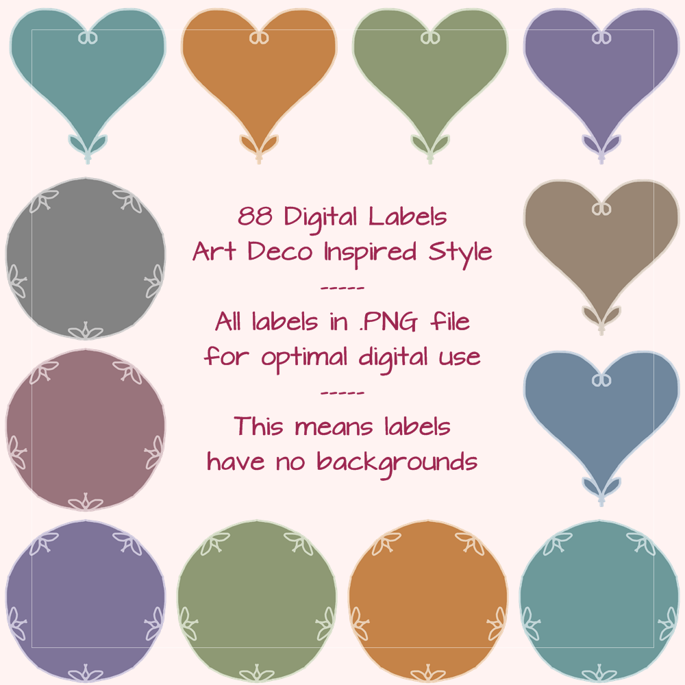Love from us all png clipart svg freeuse download Digital Labels Art Deco Style in PNG - Available on Etsy & Dawanda ... svg freeuse download