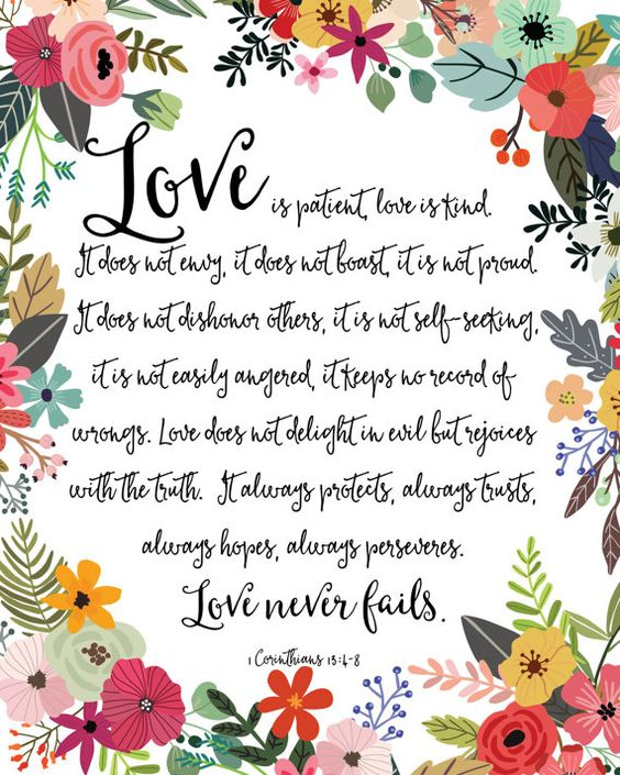 Love is kind clipart picture library library Love Is Patient Love Is Kind Print / Love Never Fails Sign / 1 ... picture library library
