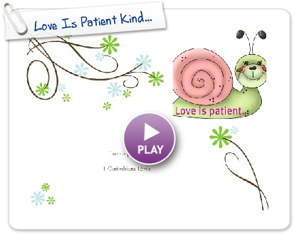 Love is kind clipart banner royalty free stock 1 Corinthians 13 - Love is Patient in Word, Deed, and Fun Songs ... banner royalty free stock