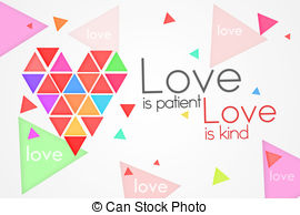 Love is kind clipart vector stock Stock Illustration of Love is Patient Love is Kind - Dark ... vector stock