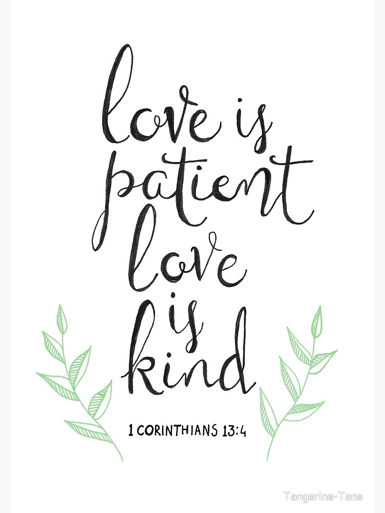 Love is patient love is kind clipart black and white library Love Is Patient, Love Is Kind | Spiral Notebook black and white library