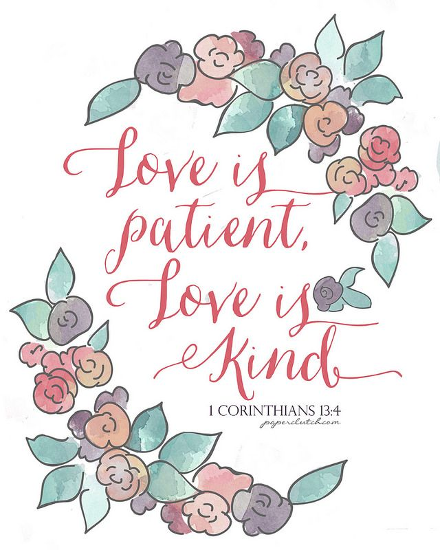 Love is patient love is kind clipart royalty free download Love is patient, Love is Kind - Free Printable via ... royalty free download