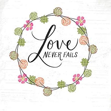 Love never fails clipart picture free Amazon.com: Posterazzi Love Never Fails Poster Print by ... picture free