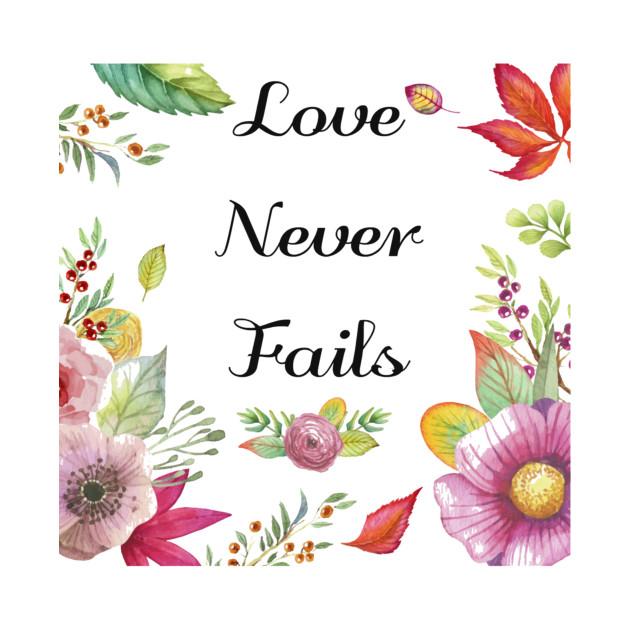 Love never fails clipart clipart freeuse stock Love Never Fails Art Design clipart freeuse stock